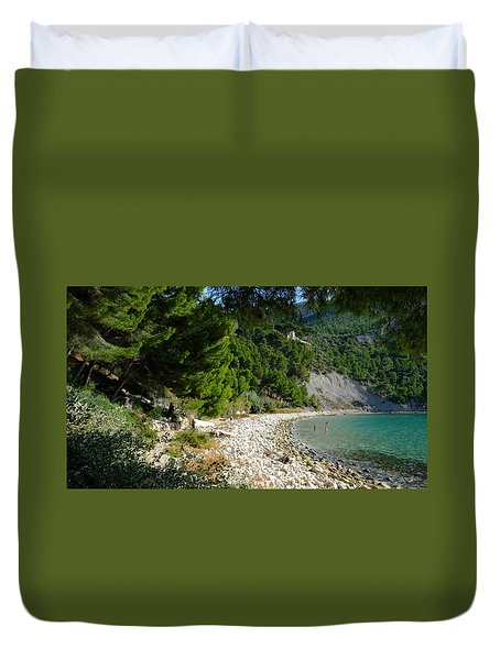 Arene Beach Of Cassis Duvet Cover