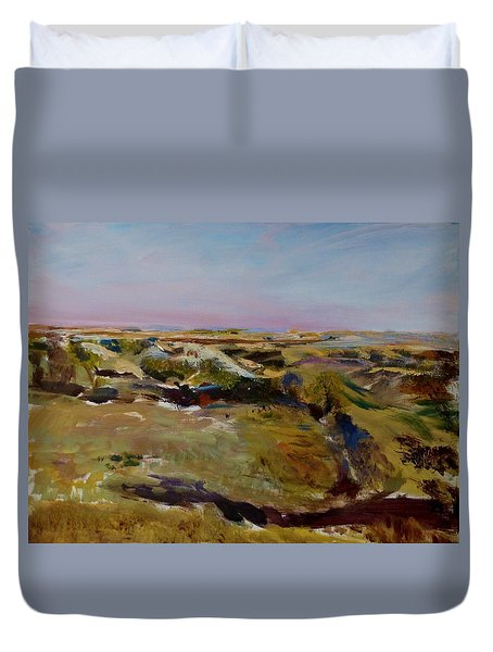 Coulee Evening Duvet Cover by Helen Campbell