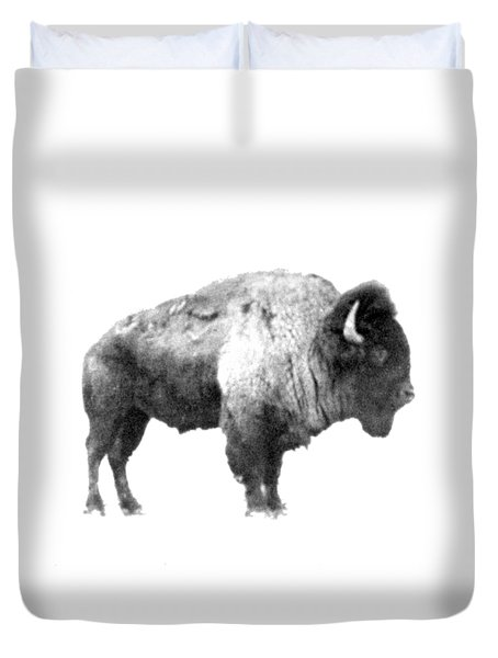 Duvet Cover featuring the photograph Plains Bison by Jim Sauchyn