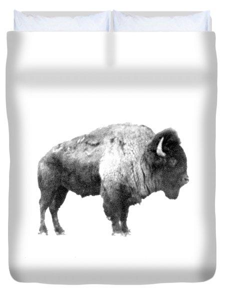 Plains Bison Duvet Cover