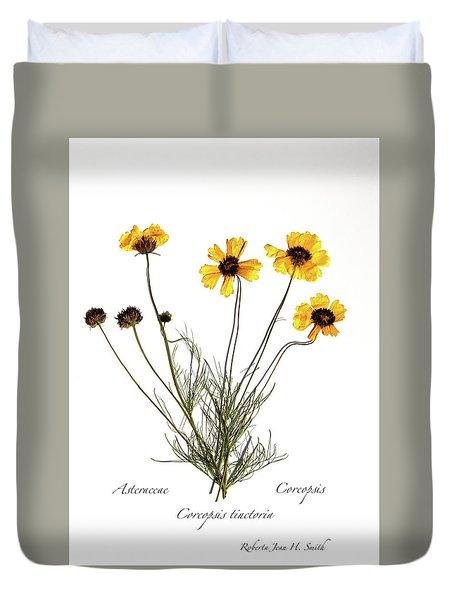 Plains Coreopsis Duvet Cover