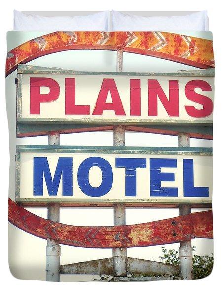 Plains Motel Duvet Cover