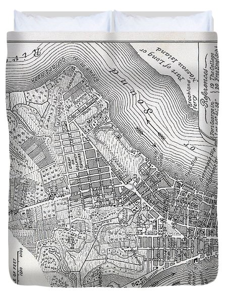 Plan Of The City Of New York Duvet Cover by American School