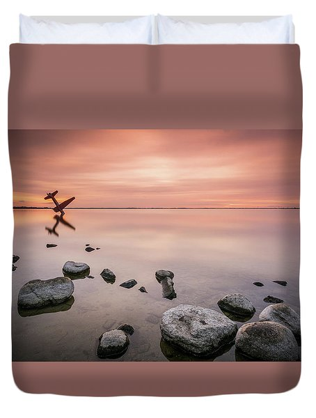 Plane And Colors Duvet Cover