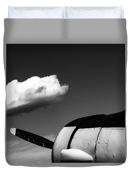 Duvet Cover featuring the photograph Plane Portrait 3 by Ryan Weddle