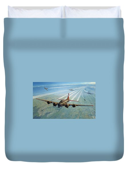 Duvet Cover featuring the photograph Plane by Test
