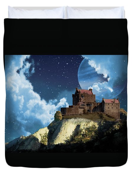 Planet Castle Duvet Cover