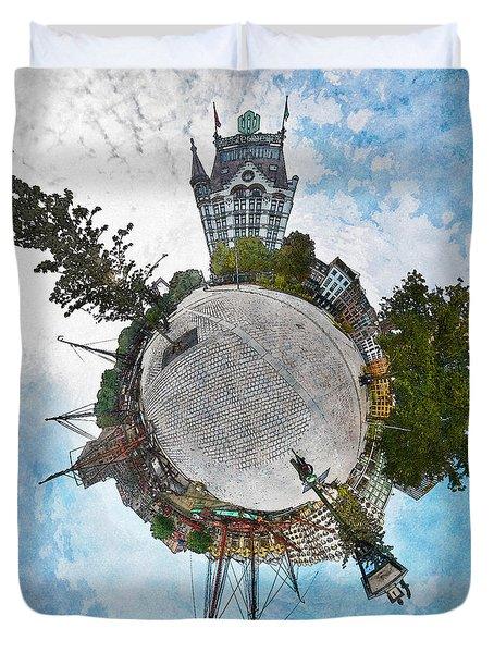 Planet Gelderseplein Rotterdam Duvet Cover