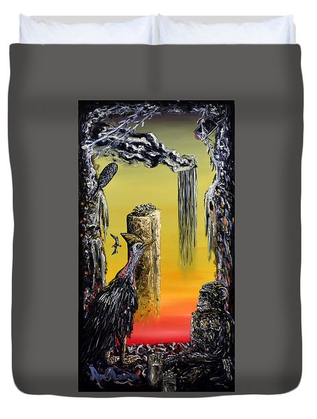 Planet Of Anomalies Duvet Cover by Ryan Demaree