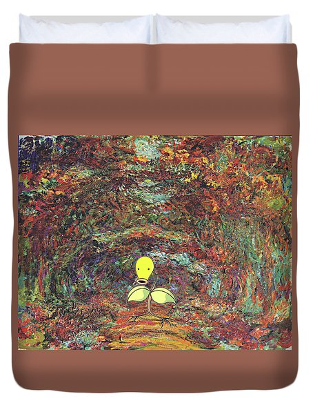 Duvet Cover featuring the digital art Planet Pokemonet  by Greg Sharpe