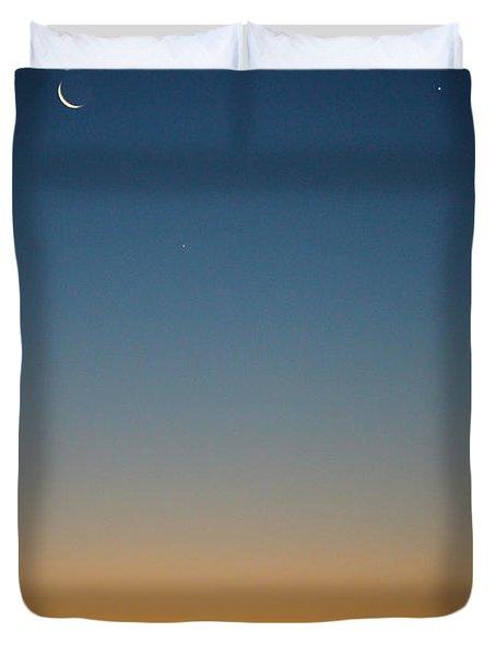 Planet Sunrise Duvet Cover