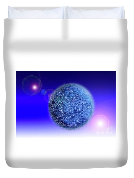 Duvet Cover featuring the photograph Planet by Tatsuya Atarashi