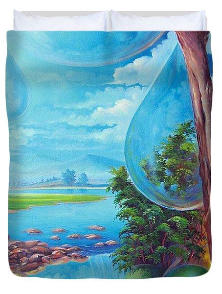 Planeta Agua Duvet Cover by Leomariano artist BRASIL