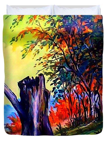 Planeta Verde Duvet Cover by Leomariano artist BRASIL