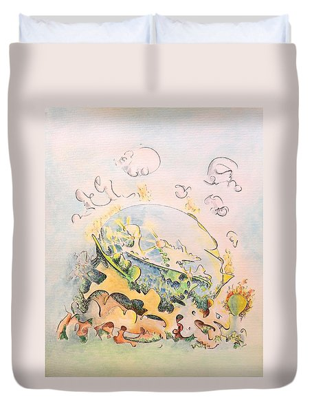 Planetary Chariot Duvet Cover