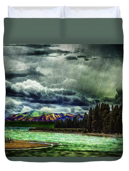 Planetary Infection Duvet Cover