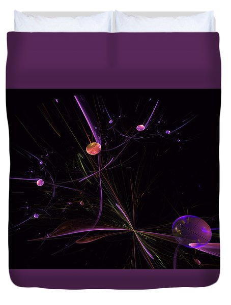 Planets And Space Energies Duvet Cover