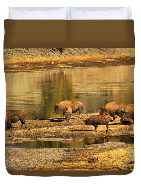 Duvet Cover featuring the photograph Planning To Cross by Adam Jewell