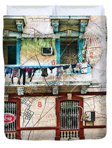 Plano De La Habana Duvet Cover