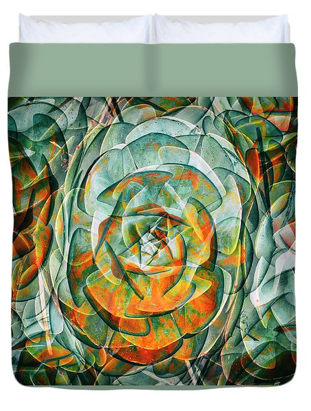 Duvet Cover featuring the photograph Plant Abstract by Wayne Sherriff