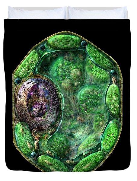Plant Cell Duvet Cover