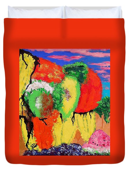 Plant Food Still Life Duvet Cover by Raymond Perez