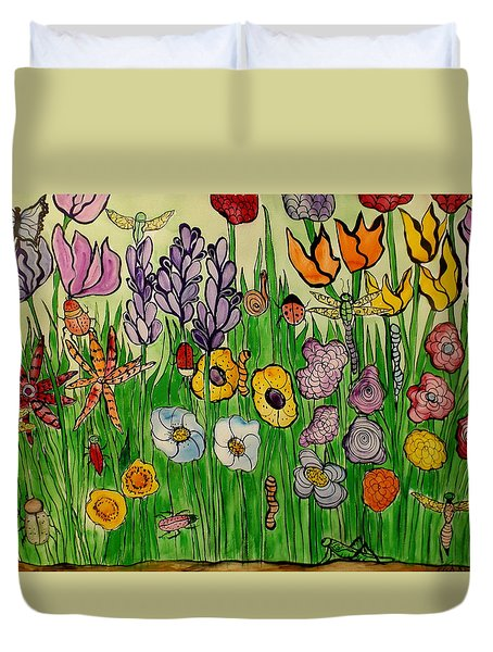 Plant Your Garden Duvet Cover by Lisa Aerts