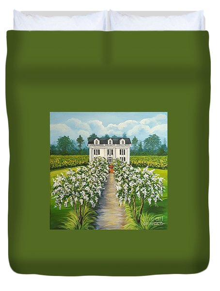 Plantation Home Duvet Cover by Sandra Lett