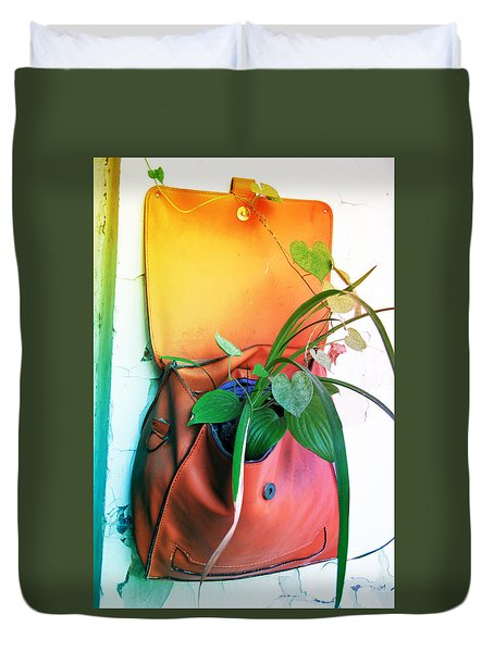 Planting Of Greenery Duvet Cover