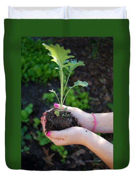 Planting Season Duvet Cover
