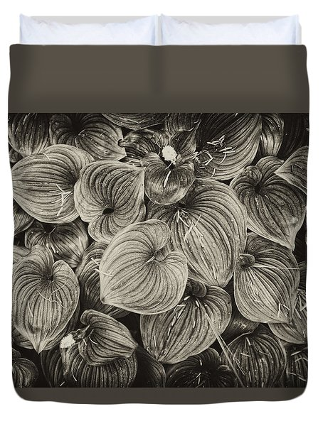 Duvet Cover featuring the photograph False Lily Of The Valley by Hugh Smith