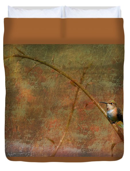 Plate 225 - Hummingbird Grunge Series Duvet Cover