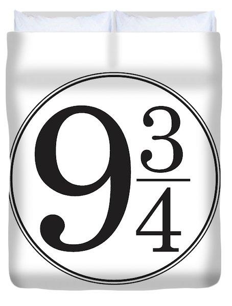 Platform Nine And Three Quarters - Harry Potter Wall Art Duvet Cover