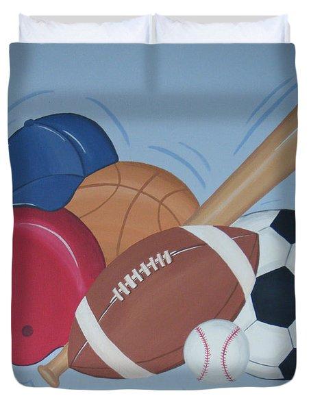 Play Ball Duvet Cover by Valerie Carpenter