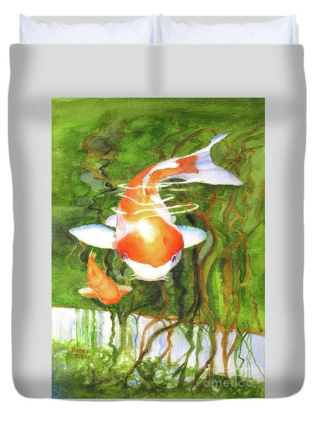 Play Koi With Me Duvet Cover
