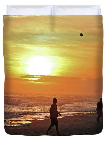 Play On The Beach Duvet Cover
