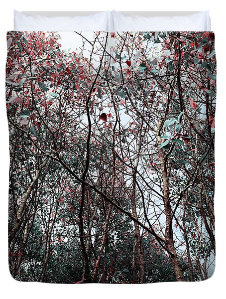 Duvet Cover featuring the photograph Play On Trees by Sue Harper