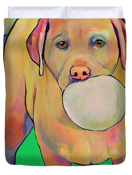Play With Me Duvet Cover by Pat Saunders-White