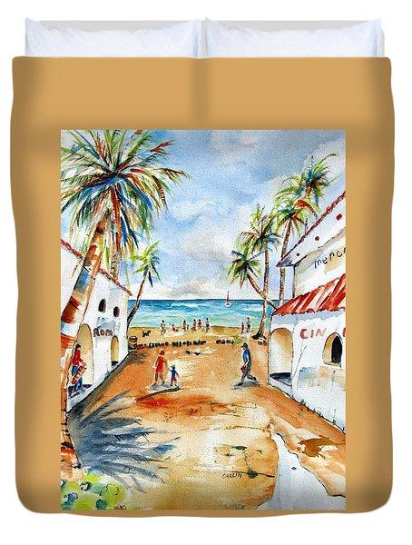 Playa Del Carmen Duvet Cover