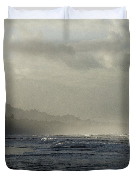 Playa Negra Beach At Sunset In Costa Rica Duvet Cover