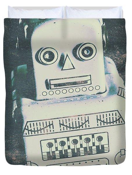Playback The Antique Robot Duvet Cover