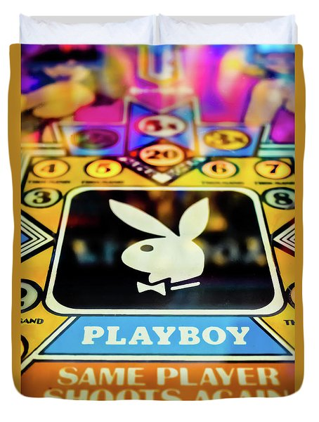Playboy Pinball Duvet Cover