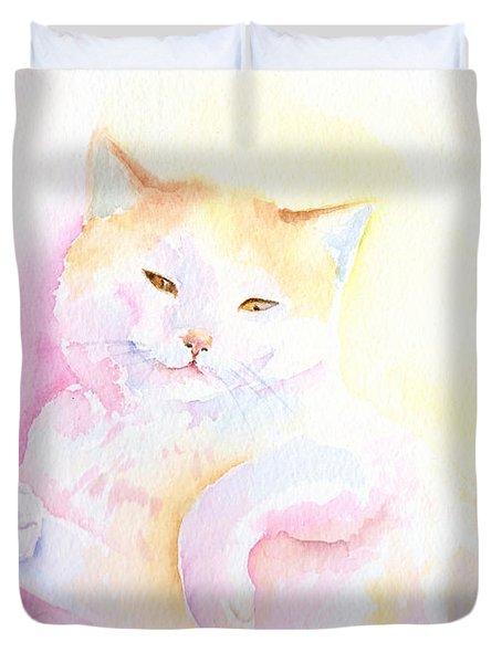 Playful Cat I Duvet Cover