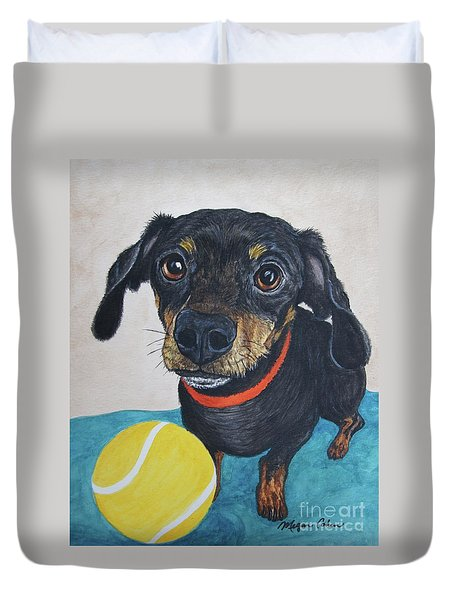 Playful Dachshund Duvet Cover