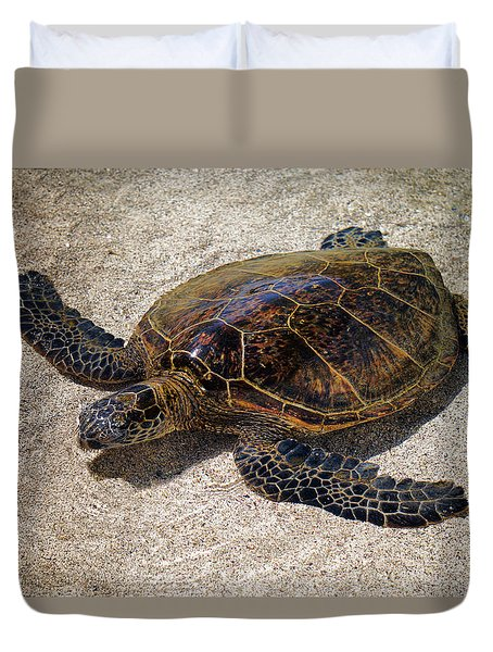 Playful Honu Duvet Cover by Pamela Walton