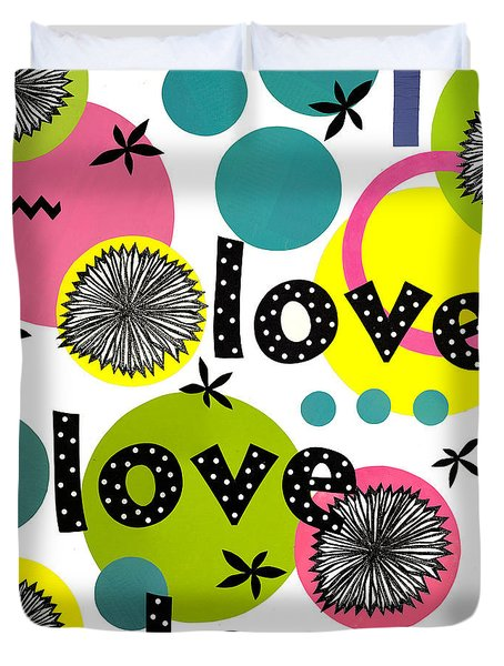 Playful Love Duvet Cover