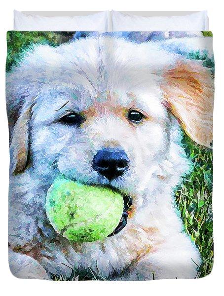 Playful Pup Duvet Cover