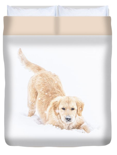 Playful Puppy Duvet Cover