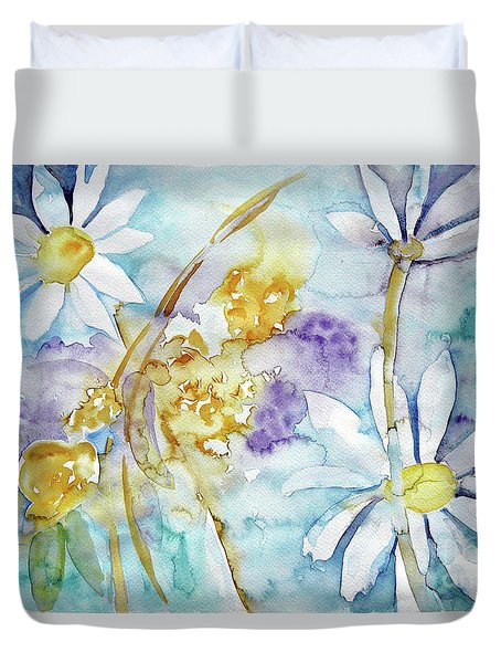 Duvet Cover featuring the painting Playfulness by Jasna Dragun