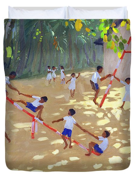 Playground Sri Lanka Duvet Cover by Andrew Macara
